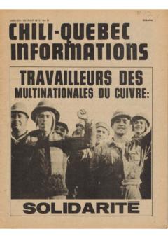 Chili-Québec Informations, no. 12, janvier-février 1975