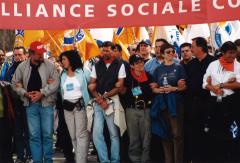 L'Alliance sociale continentale (ASC) a été formée en 1997 par des organisations sociales et syndicales de 35 pays des Amériques s'opposant à la mondialisation et au libre-échange. / Courtoisie de l'Association québécoise des organismes de coopération internationale – AQOCI