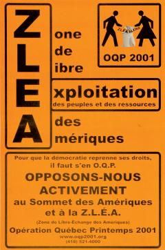 Zone de libre exploitation des Amériques (Opération Québec Printemps 2001)