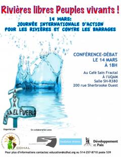Rivières libres Peuples vivants! Journée internationale d'action pour les rivières et contre les barrages / Archives du CDHAL