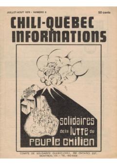 Chili-Québec Informations, no. 8, juillet-août 1974