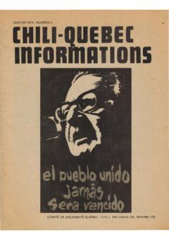 Chili-Québec Informations, no. 3, janvier 1974