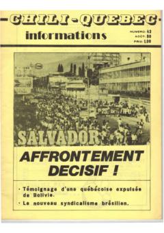 Chili-Québec Informations, no. 43, août 1980