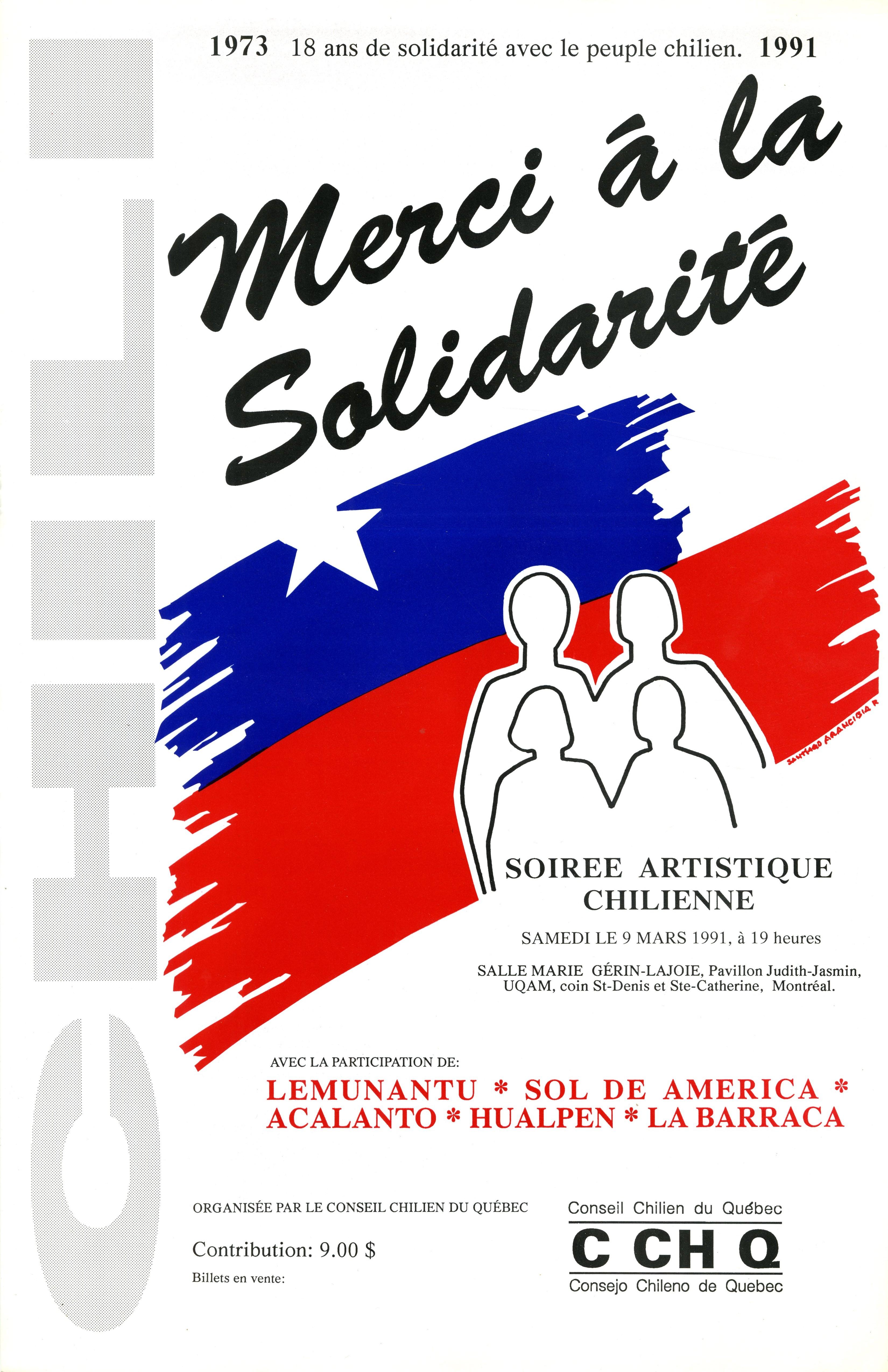 18 ans de solidarité avec le peuple chilien 1973 – 1991