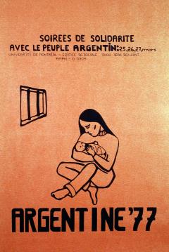 Soirée de solidarité avec l'Argentine 1977 / Courtoisie du Centre de recherche en imagerie populaire CRIP