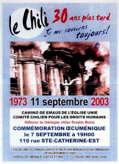 30 ans coup d'Etat Chili 1973 -2003 / Courtoisie du Centre de recherche en imagerie populaire CRIP