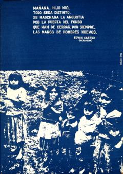 Affiche Nicaragua, texte d'Edwin Castro
