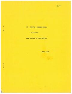 Le Comité Québec-Chili 1973 – 1978 / Courtoisie de Suzanne Chartrand – Comité Québec-Chili