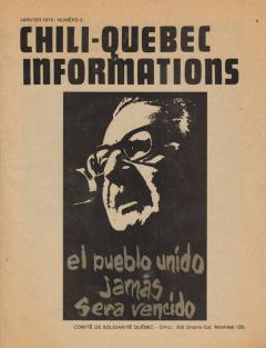 Bulletin Chili-Québec Informations Nº 3 Janvier 1974