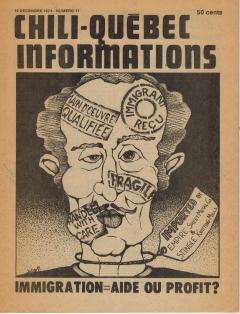 Bulletin Chili-Québec Informations Nº11 Décembre 1974 / Courtoisie de Suzanne Chartrand – Comité Québec-Chili