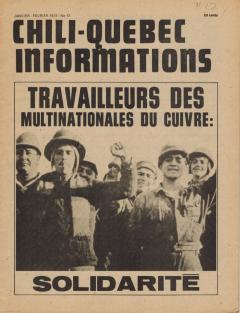 Bulletin Chili-Québec Informations Nº12 Janvier-Février75