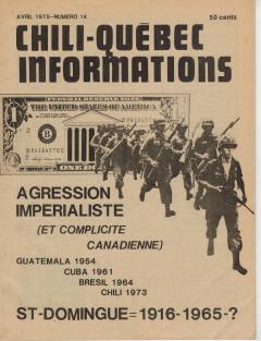 Bulletin Chili-Québec Informations Nº14 Avril 1975 / Courtoisie de Suzanne Chartrand – Comité Québec-Chili
