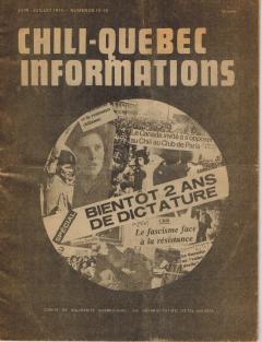 Bulletin Chili-Québec Informations Nº15-16 Juin-Juillet 1975 / Courtoisie de Suzanne Chartrand – Comité Québec-Chili