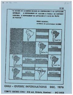 Bulletin Chili-Québec Informations Nº21 Décembre 1976