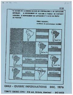 Bulletin Chili-Québec Informations Nº 21 Décembre 1976 / Courtoisie de Suzanne Chartrand – Comité Québec-Chili