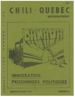 Bulletin Chili-Québec Informations Nº 22 Janvier-Février 1977 / Courtoisie de Suzanne Chartrand – Comité Québec-Chili