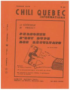 Bulletin Chili-Québec Informations Nº 28 Février 1978 / Courtoisie de Suzanne Chartrand – Comité Québec-Chili