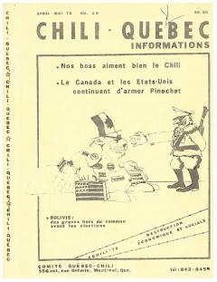 Bulletin Chili-Québec Informations Nº 29 Avril – Mai 1978 / Courtoisie de Suzanne Chartrand – Comité Québec-Chili