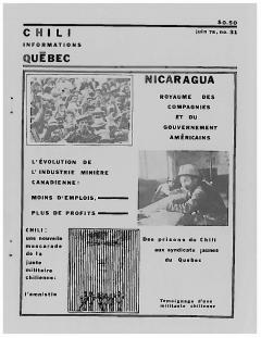 Bulletin Chili-Québec Informations Nº 31 Juin 1978 / Courtoisie de Suzanne Chartrand – Comité Québec-Chili