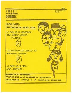 Bulletin Chili-Québec Informations Nº 32 Septembre 1978 / Courtoisie de Suzanne Chartrand – Comité Québec-Chili