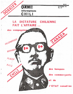 Bulletin Chili-Québec Informations Nº 33 Octobre 1978 / Courtoisie de Suzanne Chartrand – Comité Québec-Chili