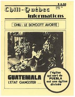 Bulletin Chili-Québec Informations Nº35 Mars 1979
