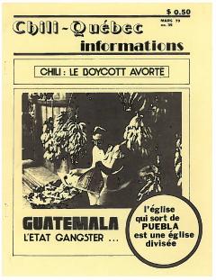 Bulletin Chili-Québec Informations Nº 35 Mars 1979 / Courtoisie de Suzanne Chartrand – Comité Québec-Chili