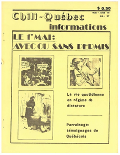 Bulletin Chili-Québec Informations Nº37 Mai – Juin 1979