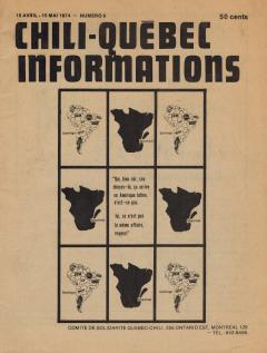 Bulletin Chili-Québec Informations Nº6 Avril-Mai 1974 / Courtoisie de Suzanne Chartrand – Comité Québec-Chili