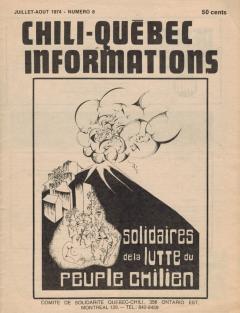 Bulletin Chili-Québec Informations Nº8 Juillet-Août 1974