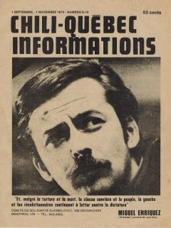 Bulletin Chili-Québec Informations Nº9-10 Septembre – Novembre 1974 / Courtoisie de Suzanne Chartrand – Comité Québec-Chili