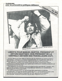 Bulletin de Liaison pour les prisonnières politiques chiliennes Supplément Spécial 1989 / Courtoisie du Comité chilien pour les droits humains