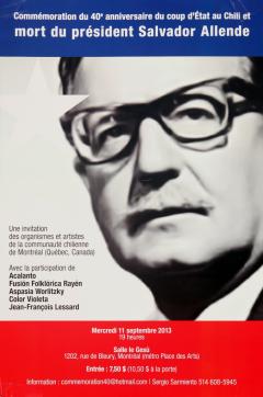 Commémoration du 40e anniversaire du coup d'État au Chili 2013 / Courtoisie du Comité chilien pour les droits humains
