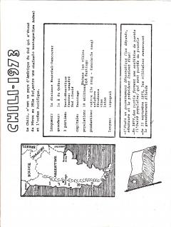 Chili – 1973 / Courtoisie de Suzanne Chartrand – Comité Québec – Chili