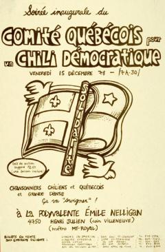 Comité québecois pour un Chili démocratique 1978 / Courtoisie du Centre de recherche en imagerie populaire CRIP
