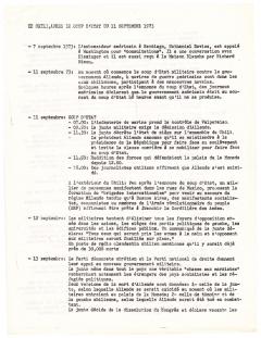 Le Chili, après le coup d'état du 11 septembre 1973 / Courtoisie de Suzanne Chartrand – Comité Québec-Chili