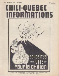 Solidaires de la lutte du peuple chilien / Courtoisie de Suzanne Chartrand – Comité Québec-Chili