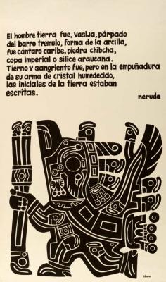 Extrait poème Pablo Neruda / Courtoisie du Centre de recherche en imagerie populaire CRIP
