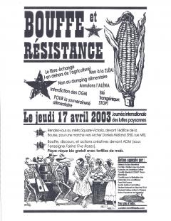 Journée internationale des luttes paysannes, 2003