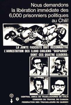 Libération prisonniers politiques au Chili / Courtoisie du Centre de recherche en imagerie populaire CRIP