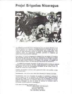 Projet Brigades Nicaragua