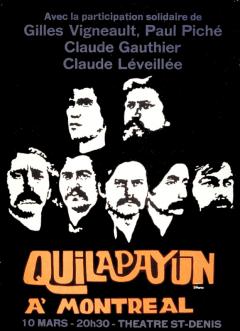 Quilapayun à Montréal / Courtoisie du Centre de recherche en imagerie populaire CRIP