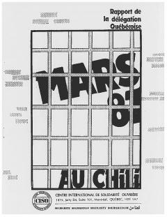 Rapport de la délégation québécoise au Chili 1987 / Courtoisie de Clotilde Bertrand