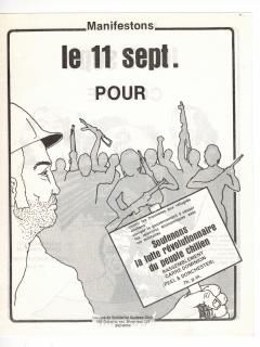 Rassemblement Soutenons la lutte révolutionnaire du peuple chilien / Courtoisie de Suzanne Chartrand – Comité Québec-Chili
