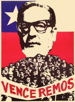Salvador Allende Venceremos / Courtoisie du Centre de recherche en imagerie populaire CRIP