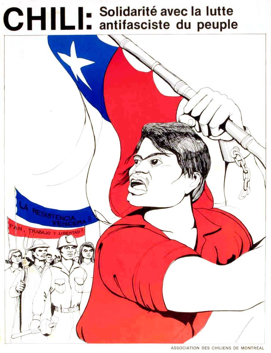 Solidarité avec la lutte antifasciste du peuple chilien / Courtoisie du Centre de recherche en imagerie populaire CRIP