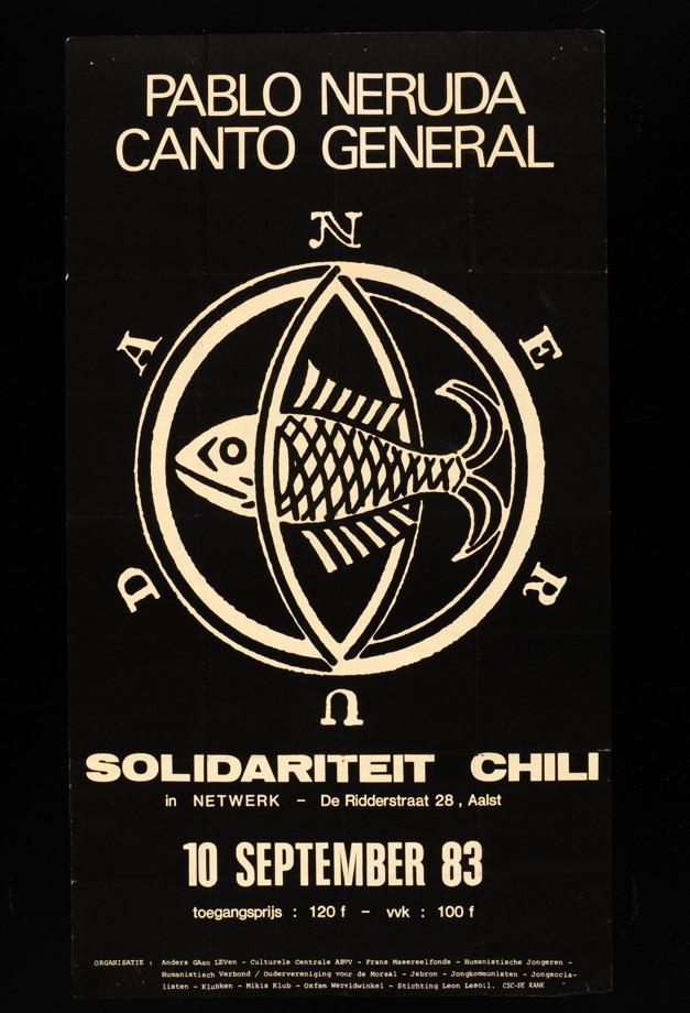 Solidarité avec le Chili 1983 / Courtoisie du Centre de recherche en imagerie populaire CRIP