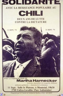 À deux ans de lutte contre la dictature au Chili / Courtoisie du Centre de recherche en imagerie populaire CRIP