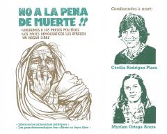 Campagne Non à la peine de mort aux prisonniers politiques au Chili