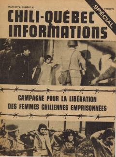 Campagne de libération prisonnières politiques chiliennes Mars 1975 / Courtoisie de Suzanne Chartrand – Comité Québec-Chili